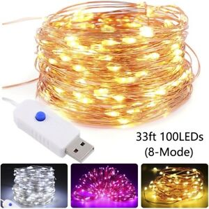 50-100LED-USB-String-Copper-Wire-Fairy-Lights-Xmas-Party-Fairy-Decor-Lamp-Lwx