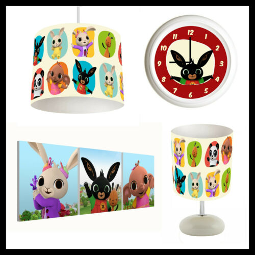 BING BUNNY (501) - Nursery Bedroom - Lampshade, Lamp, Clock & Pictures
