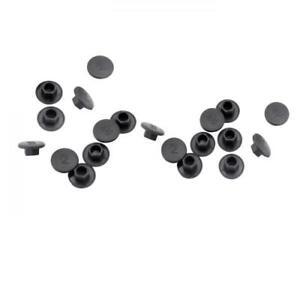 10x M5 Bolt Protection Caps Cover Hex Hexagon Plastic for Bike Headset Black