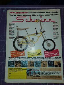 1968 Schwinn Lemon Peeler muscle bike magazine ad