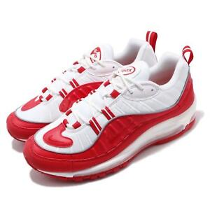 f606cddfe8c3 Nike Air Max 98 University Red White Mens Running Shoes NSW Sneakers ...