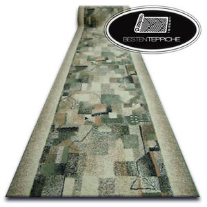 Details about Modern Cheap Runner Bcf Impression Olive, Green, Abstract  Width 60 - 120 CM
