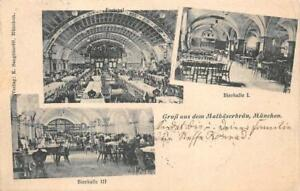 BEER-HALL-MUNCHEN-GERMANY-TO-USA-POSTAGE-DUE-PRECANCEL-STAMP-POSTCARD-1906
