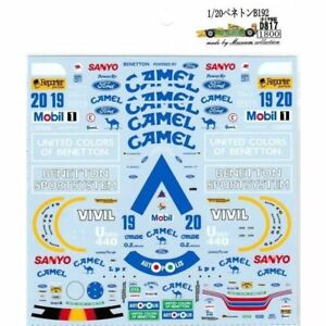 Museum-Collection-1-20-Benetton-B192-amp-Racing-Suit-Decal-for-TAMIYA-D817