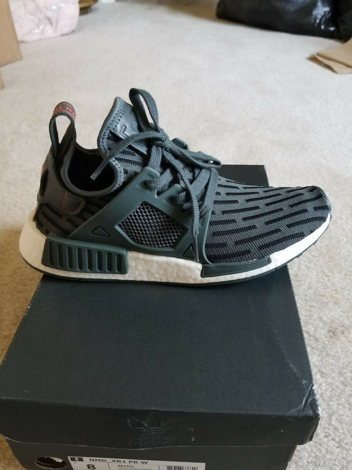 New Women's Adidas NMD XR1 Primeknit shoes 8.5 olive green run training casual