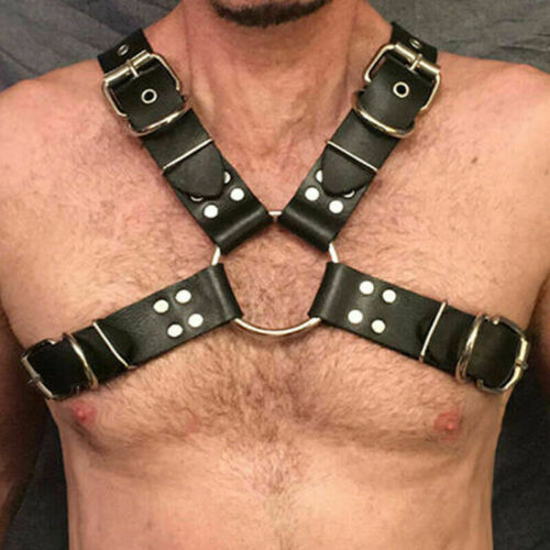Men Harness Lingerie Rave Belt Arnes Mujer Pastel Goth Seks BDSM Leather Belt