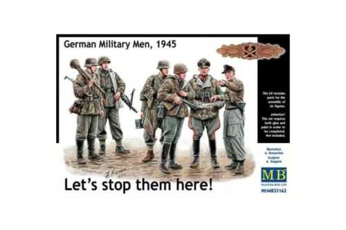 1945 Let/'s stop them here! MasterBox MB35162 1//35 German Military Men