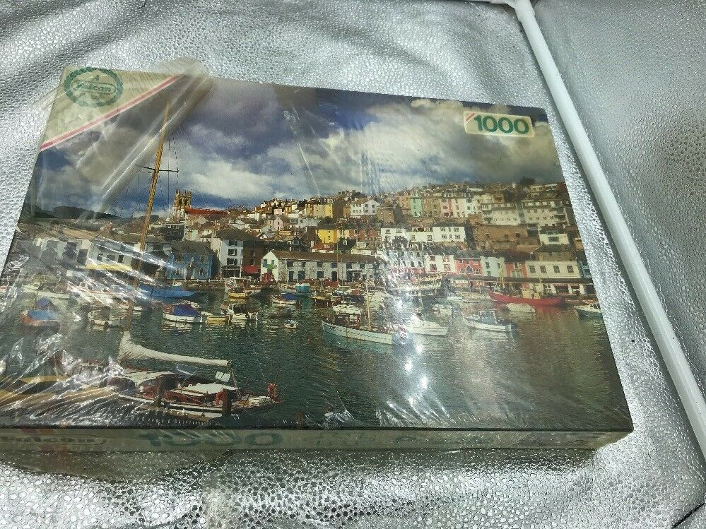 Vintage Falcon 1000 Piece Jigsaw Puzzle English Port Harbour Seaside