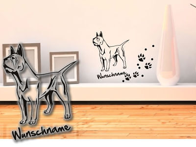 Wandtattoo Galgo Espanol Windhund H188 Hundepfoten Wunschname Tatze