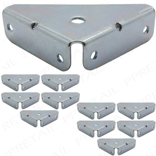 PACK OF 10 HEAVY DUTY CORNER BRACES 50mm Angle Bracket Fixing//Repair Plate NEW