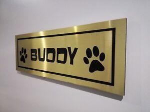 Personalised Pets Dog Cat Name Photo Metal Aluminium Plaque Sign Door 20x7.5 cm