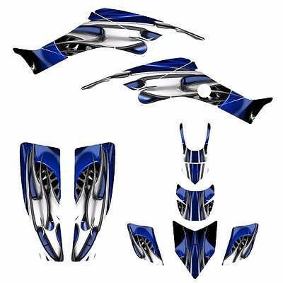 TRX400EX graphics 1999-2007 Honda 400EX stickers kit #9800 Blue Skulls