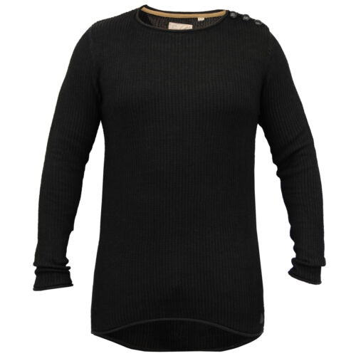 Mens Long Line Jumper Soul Star Sweater High Low Hem Top Knitted Pullover Winter