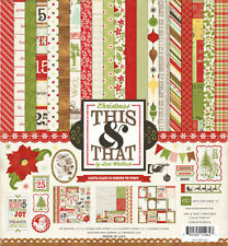 """ECHO PARK """"THIS & THAT CHRISTMAS"""" 12X12 PAPER PACK  SCRAPJACK'S PLACE 2012"""
