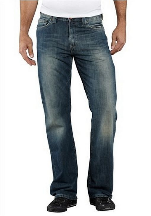Mustang Jeans New W30 L32 Men's Denim Pants bluee Dirty Wash Used Bootcut