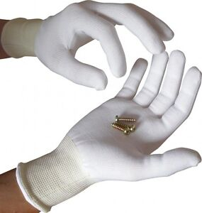 12-x-UCI-STP13-White-Close-Fitting-Knitted-Polyester-Inspection-Gloves