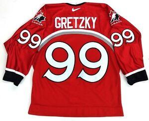 930caa50404 WAYNE GRETZKY 1998 NAGANO OLYMPICS TEAM CANADA RED AUTHENTIC NIKE ...