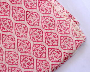By-The-Yard-Fabric-Hand-Block-Print-Garment-Women-Dress-Material-100-Cotton