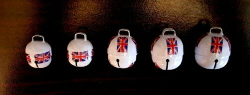 Falconry Cat Printed UK Flag Acron Bells Pair Dog All sizes