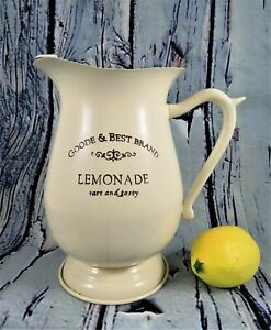 Enamelware-Reproduction-Farmhouse-Lemonade-Pitcher-Beige-Goode-amp-Best-Brand-2-Qt