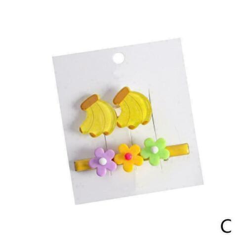 2pcs//set Frauen Obst Blume Haarspange Set Floral Hairgrip Haarspangen Halte F2L6