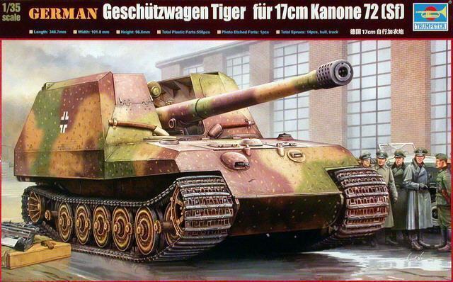 Trumpeter Model kit 1 35 German Geschutzwagen Tiger K72