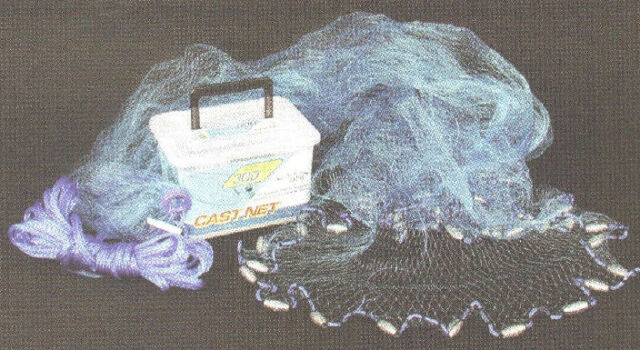 "Ahi CN308 8 Ft Blue 1/2"" Premium Blue Ube Monofilament Cast Net 16112"