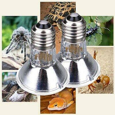 50/100W E27 Reptile Thermo Basking Spotlight UV-A UVB Wärmelampe Halogen Lampe