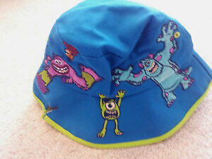 Sulley Mike Monsters University Bucket Hat Youth Size Art Embroidered Disneyland Ebay