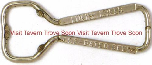 """1940s Lucky Lager /""""Age-Dated Beer/"""" Wire Bottle Opener Box 14"""