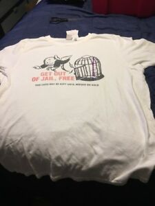 Monopoly-Game-Night-Junk-Food-Men-s-Xl-Extra-Large-T-shirt-Get-Out-Of-Jail