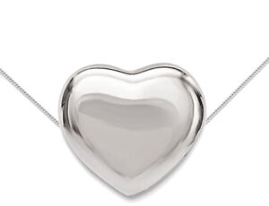 Sterling-Silver-Heart-Charm-Pendant-Necklace-with-chain