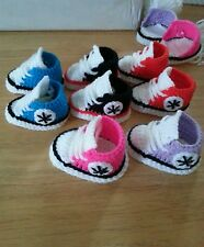 Handmade crochet baby shoes for baby girls and boys from 0-3 month any colours