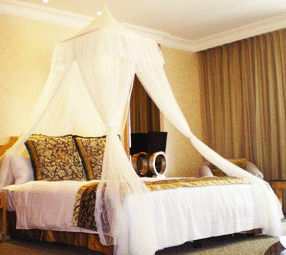 Bali Resort Style Elegant White Bed Canopy Mosquito Net Netting Bedroom Curtains Ebay