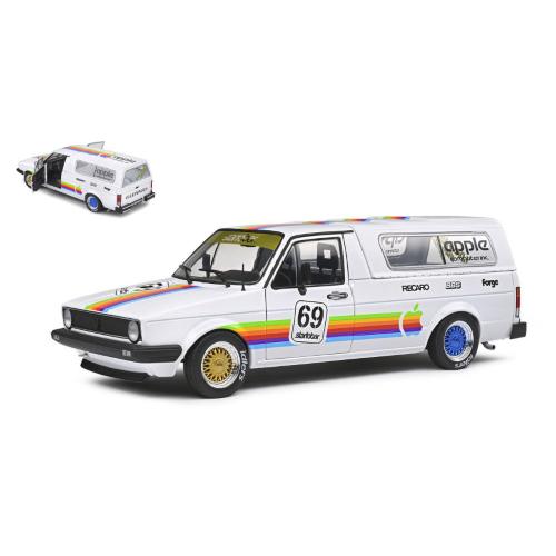 VW CADDY MK1 COMPUTER CUSTOM 1982 1:18 Solido Veicoli Commerciali Die Cast