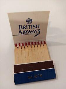 Vintage British Airways Matchbook Inter Continental Luxemburg collectable