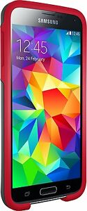 NEW-Otterbox-SYMMETRY-SERIES-for-Samsung-Galaxy-S5-GREY-RED