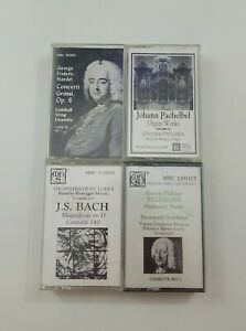 Musical Heritage Society Cassette Lot of 4 Titles (SEE DESCRIPTION FOR TITLES)