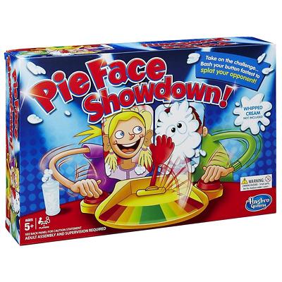 OFFICIAL HASBRO PIE FACE SHOWDOWN GAME FAMILY FUN DUAL CHALLENGE KIDS XMAS GIFT