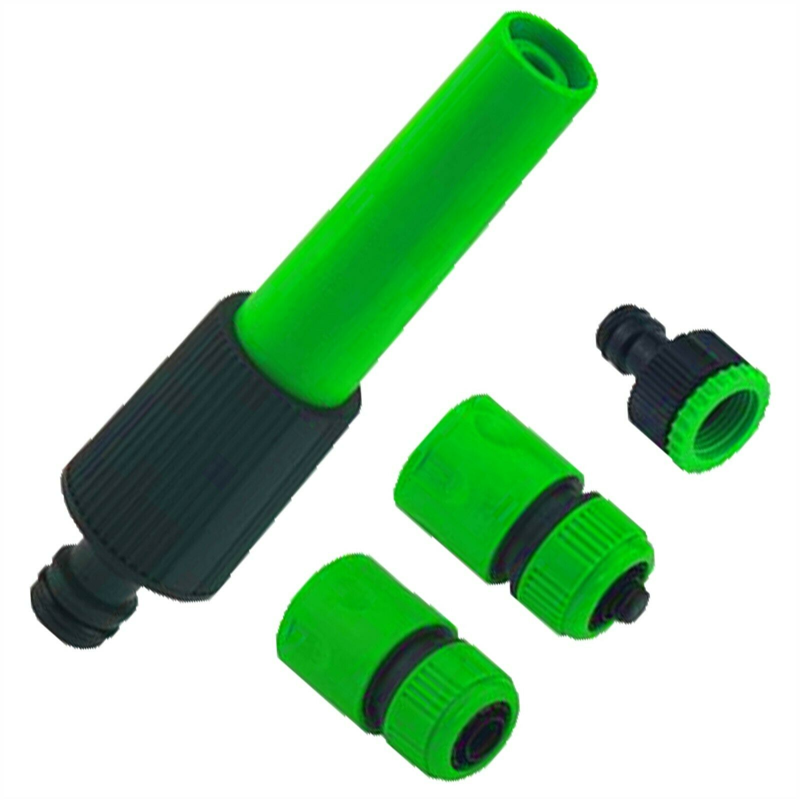 4 X Hose Pipe Fittings Nozzle Extra Connector Attachments Garden Water Outdoor