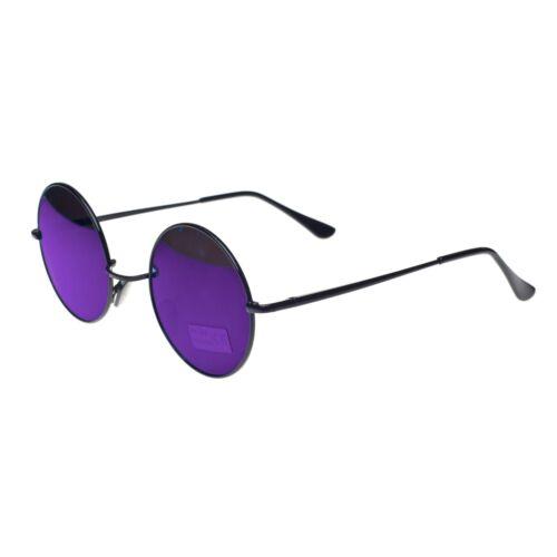 Round John Lennon Style Sunglasses Mirror Hippy Hippies 70/'s 60/'s Lens