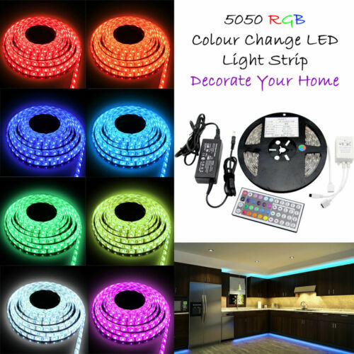 LED Strip Lights 5M-20M Color Changing TV Backlight 3528 5050 RGB Remote Control