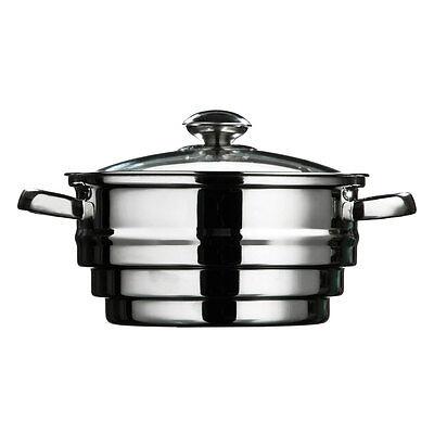 Stainless Steel Food Steamer Large Saucepan Vegetable Strainer Steaming Pot Pan