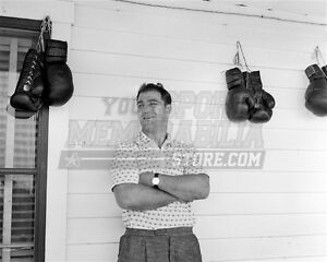 Rocky Marciano PHOTO Boxing Champ Gloves On Closeup Heavyweight Champion Fight
