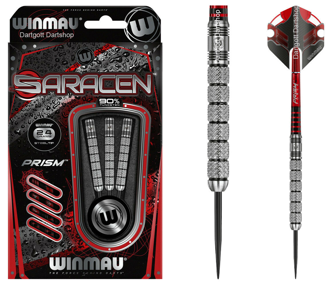 WINMAU SARACEN Steel Darts 24 oder 26 gramm 90% 90% 90% Tungsten Dartset 5e5e22