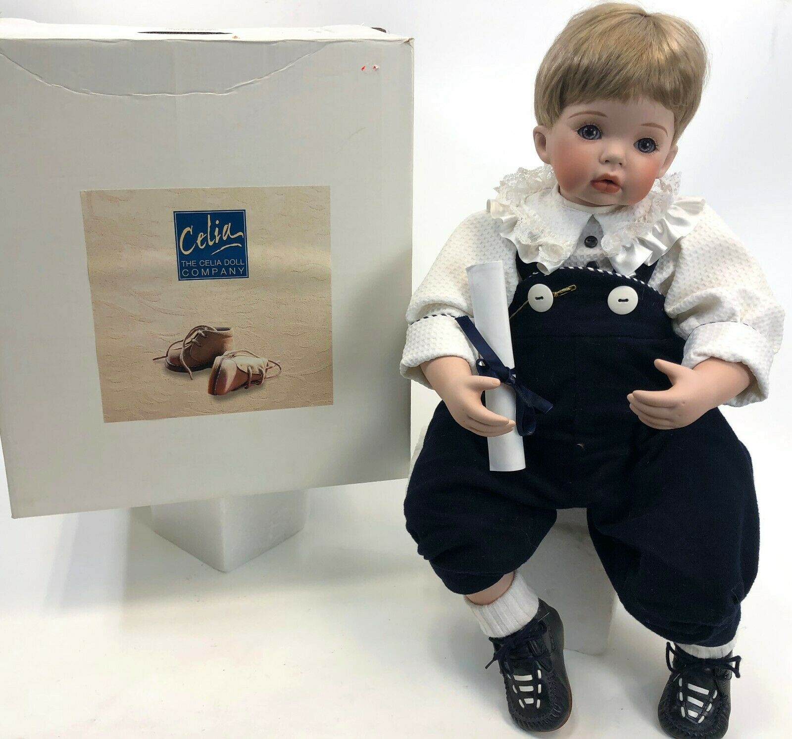 RARE 21  CELIA England Lifelike Fine Bisque Porcelain Limit Edition Marcus Doll