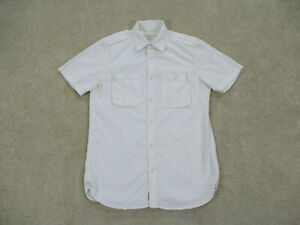 Ralph Lauren Button Up Shirt Adult Small White Denim & Supply Camp Casual Mens