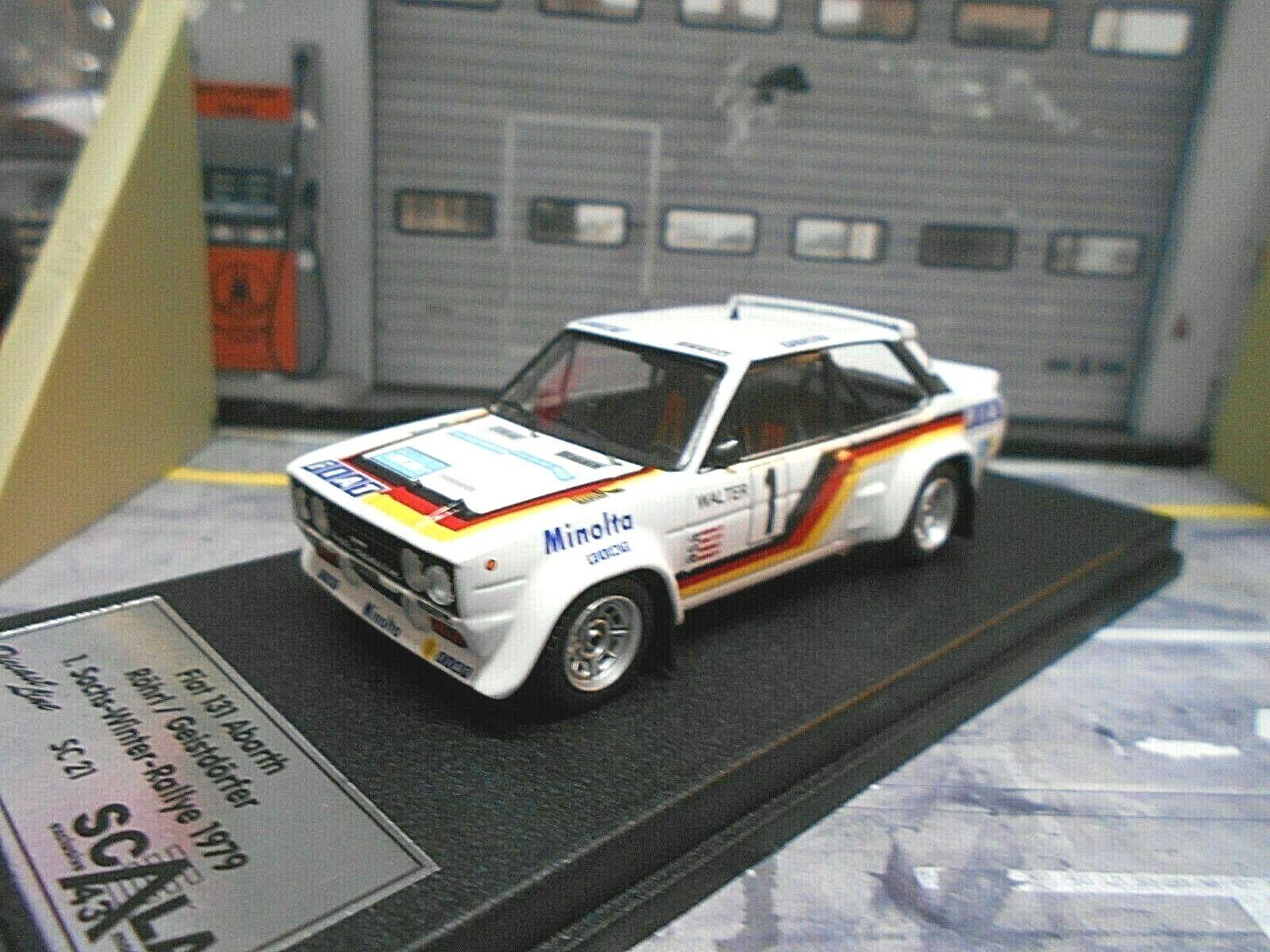 FIAT 131 Abarth Rallye  Sachs Winter DRM 1979 Sieg  1 Röhrl Minolta Trofeu 1 43  bas prix