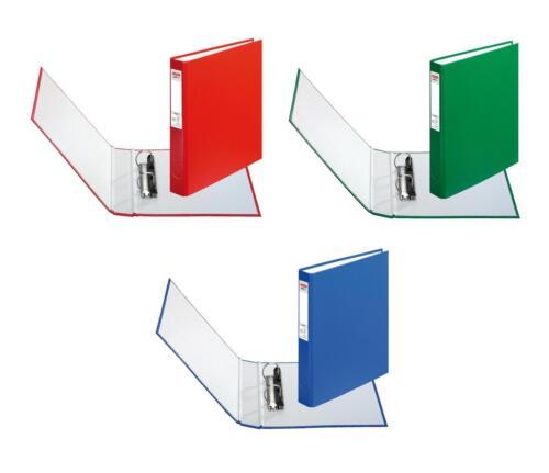 3 Herlitz Ringbücher DIN A5 Ringbuch mit 2-Ringe je 1x blau rot grün