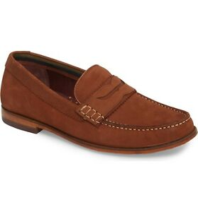 Mens Ted Baker London Miicke 5 Penny Loafers Brown Leather ...